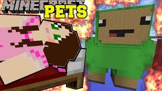 Minecraft: BURNING PETS (KAMI, SPARKY, & PUFFY THE PUFFERFISH!) Mini-Game