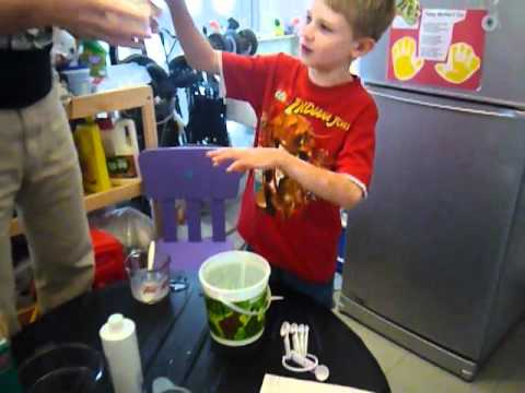 Luke making flubber