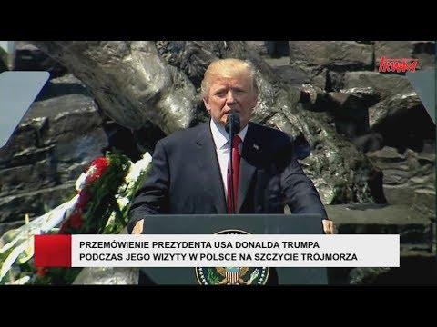 Przemówienie Prezydenta Donalda Trumpa Na Placu Krasińskich W Warszawie