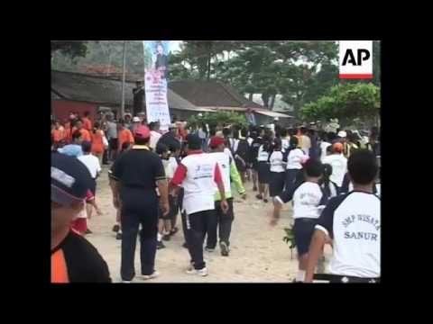 Tsunami drill ahead of completion of Bali's early warning system