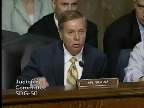 Lindsey Graham vs. Attorney General Eric Holder.