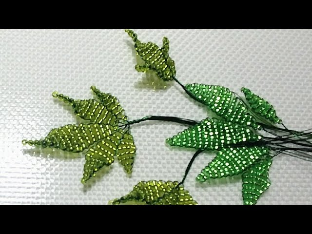Бисероплетение для новичков Урок 5. Сложные листики. Параллельное плетение. Beading for beginners