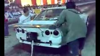 1500 hp Skyline. 1.2 secs 0-100 km/h.