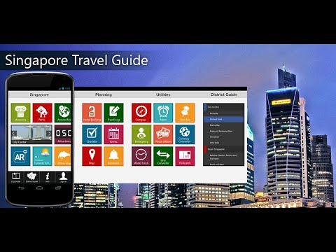 Singapore Travel Android App Promo - Pangea Guides