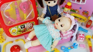 Baby doll doctor and Cocomong Hospital cart car toys ambulance play 코코몽 아기인형 의사 병원놀이 구급차 장난감 - 토이몽
