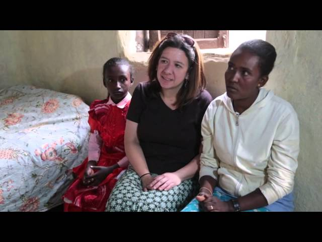 Compassion International: Stacey with Sponsored Child
