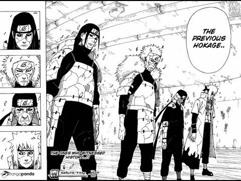 Naruto Shippuden Manga Issue 618 - The Ones Who Know Everything -  4 HOKAGES RETURN!
