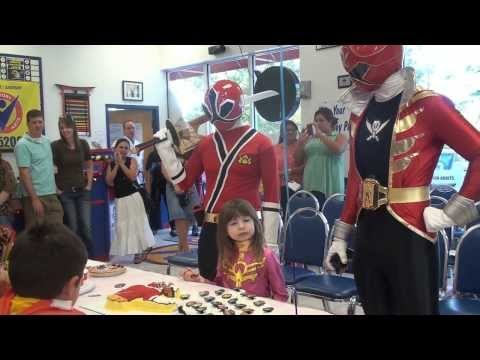 Angelina's Power Rangers Birthday Party at Oviedo Victory Martial Arts