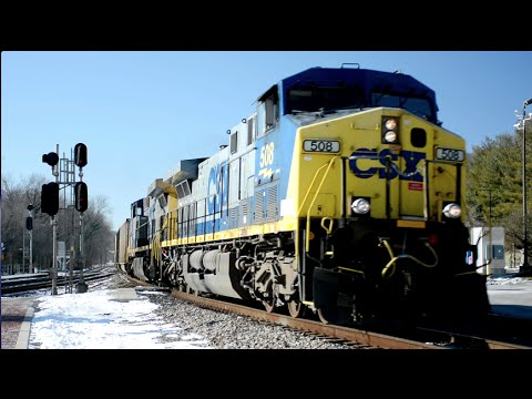 Heavy CSX Coal Train Warps Rails