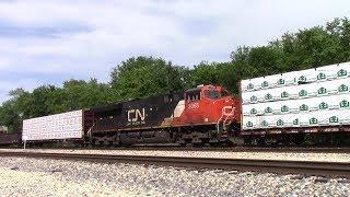 Mid Train DPU on Southbound CN M342 in Centralia, Illinois