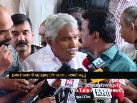 Oommen Chandy resigns as Kerala CM