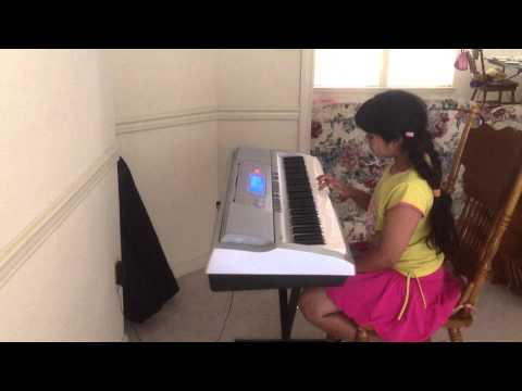 Anjali Anjali pushpanjali : Priya playing on keyboard