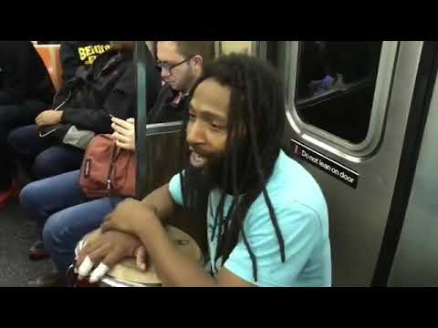 RealVideoPlus...NYC mayor candidate Bo Dietl dancing to street music on subway today...watch...share