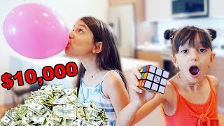 BREAK A WORLD RECORD WIN $10,000 | TwoSistersToyStyle