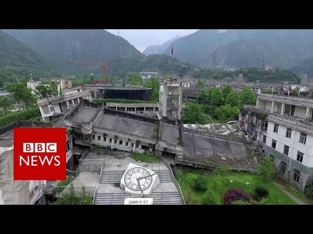 Sichuan earthquake: The ghost town visited by millions - BBC News