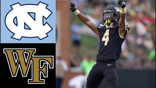 UNC vs Wake Forest Highlights | NCAAF Week 3 | College Football Highlights