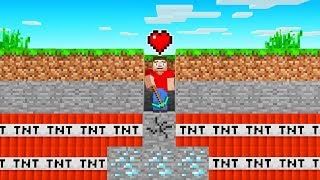Beating MINECRAFT with ONE HEART (challenge)