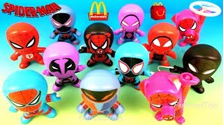 2018 McDONALDS SPIDERMAN HAPPY MEAL TOYS SPIDER-MAN INTO THE SPIDER-VERSE MOVIE KID FULL SET 6 WORLD