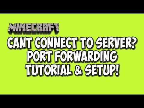 Can't Connect To Server Minecraft Server 1.8.1 Port Forwarding Setup Tutorial