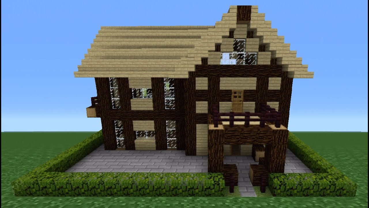 Minecraft Tutorial: How To Make A Wooden House - 5 - YouTube