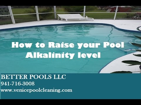 How to Raise Your  Pool Alkalinity Level
