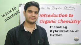 Organic Chemistry Basics with hybridization (Hindi/English/Urdu)
