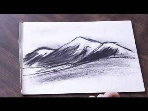 Trippy Landscape Drawing