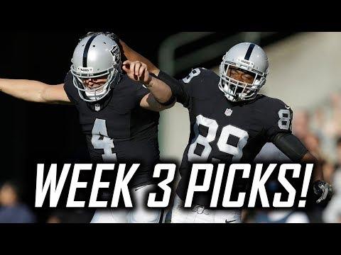 2017 NFL Week 3 Predictions and Picks - Raiders at Redskins, Cowboys at Cardinals, and More!