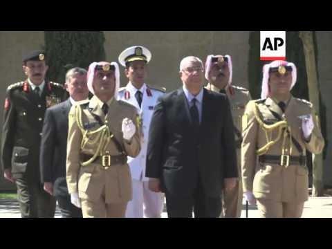 Egypt's interim President, Adly Mansour meets Jordan's King Abdullah