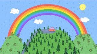 RAIBOW RAINBOW - Peppa pig English Cartoon for kids (2018)
