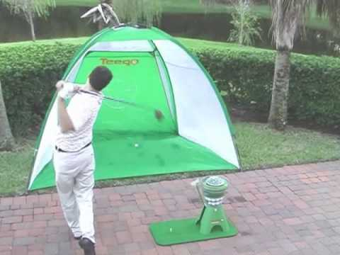 Year round golf training aid home driving range youtube for Verlichte driving range