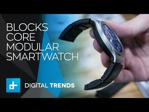 Blocks Core Modular Smartwatch - Hands On at CES 2018