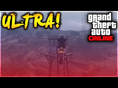 GTA 5 Stunts - OMFG! Ultra Motorcycle Water Tower Stunt! (GTA 5 Stunt Challenge)