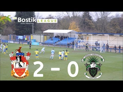 Brentwood Town F.C 2 | 0 Haringey Borough F.C [Away Highlights]