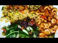 Sunday Dinner How to cook the perfect COUSCOUS RECIPE Healthy Couscous with salad shrimp WIGHT LOSS