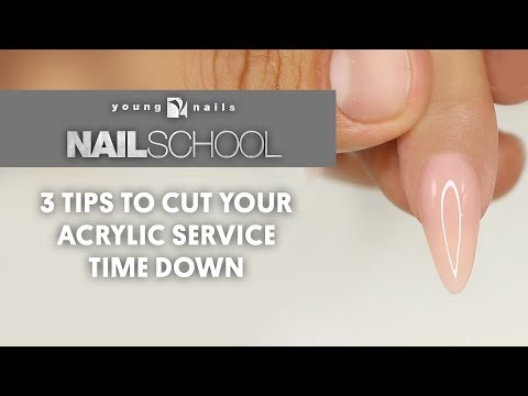 YN NAIL SCHOOL - 3 TIPS TO CUT YOUR ACRYLIC SERVICE TIME DOWN