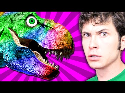 Rainbow Dinosaur! - Happy Wheels Gameplay Highlight video