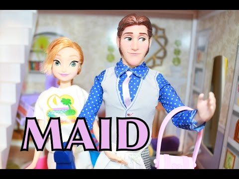 Frozen Anna Kristoff Hans Cleaning Maid Disney Barbie Princess Cinderella Part 2 Alltoycollector video