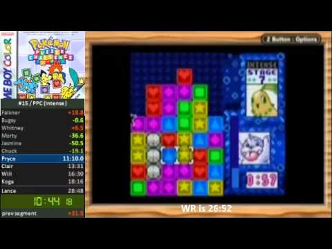 Pokémon Puzzle Challenge World Record Speedrun- 22:42.16 Intense