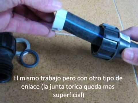 Tubo polietileno negro manipulacion y accesorios youtube - Tubos desague pvc ...