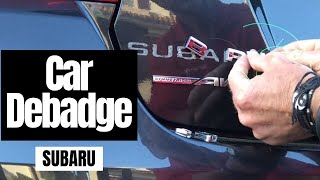 Debadge Car: Subaru WRX