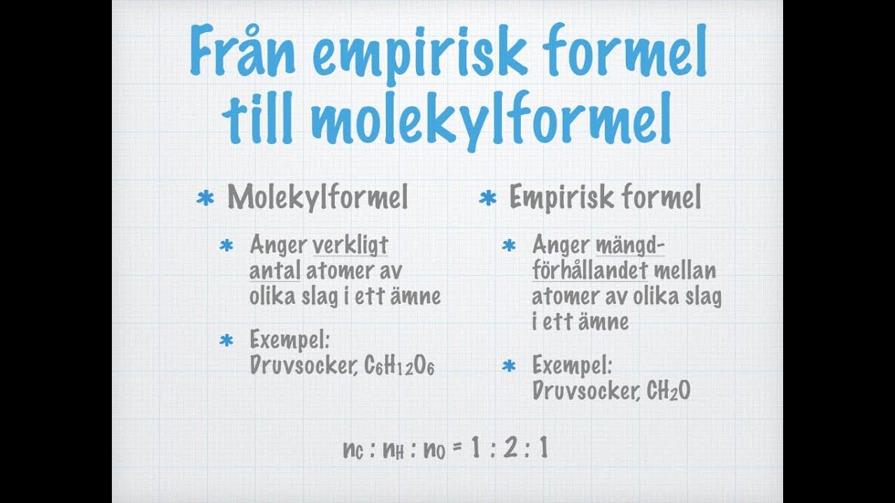 empirisk formel