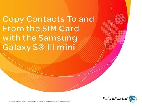 Samsung Galaxy S III mini : Copy Contacts To and From the SIM Card