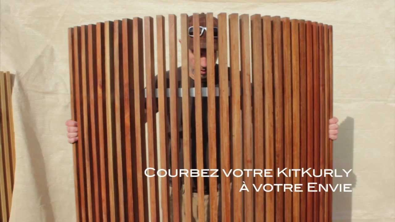kit kurly claustra courbe en bois monter soi m me youtube. Black Bedroom Furniture Sets. Home Design Ideas