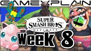 Smash Bros. Ultimate Update: Delfino Plaza & Lylat, Galaga Medley, Jiggly & Wario, Rodin AT - Week 8