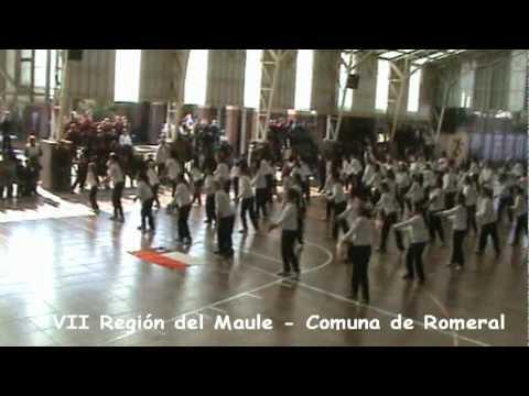 Alumnos de la Escuela Ramón Freire de la Comuna de Romeral, VII Region del Maule.