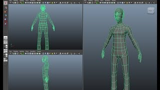 Maya Character modeling tutorial, part 1 - The Body