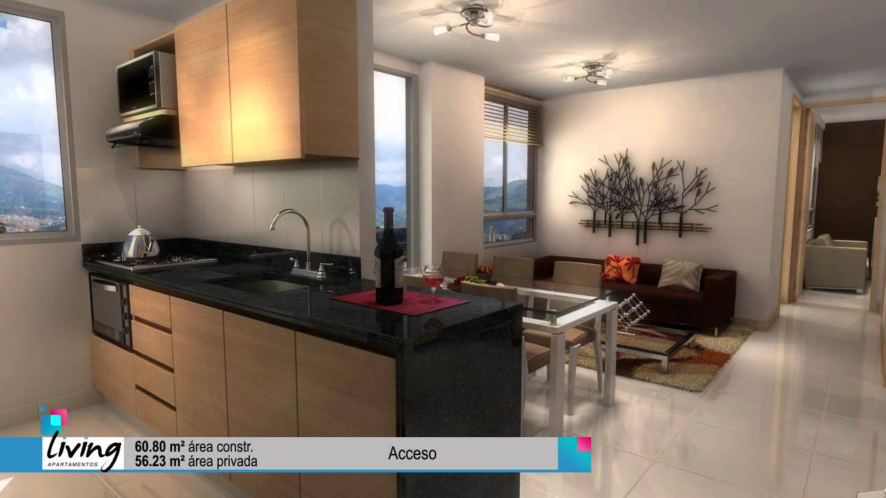 Living fachada y apartamentos video detallado 15 min youtube for Apartamentos pequenos modernos