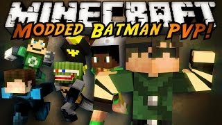 Minecraft Modded PVP : SUPERHEROES MOD! (Batman!)