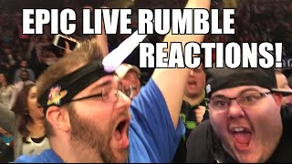 EPIC LIVE REACTIONS to 2016 WWE ROYAL RUMBLE! Triple H Wins! AJ Styles Debuts!